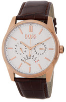 HUGO BOSS Men's Heritage Croc Embossed Leather Strap Watch