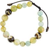 Armenta Aquamarine & Mother-of-Pearl Beaded Bracelet