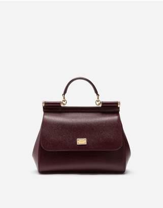 Dolce & Gabbana Medium Dauphine Leather Sicily Bag