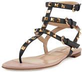 Valentino Rockstud Flat Thong Sandal