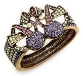 Heidi Daus Crystal Bow Bangle Bracelet