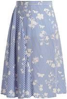 Altuzarra Sundew stripe-print fluted silk midi skirt