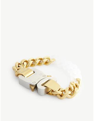 Alyx Rollercoaster-buckle brass and acrylic bracelet