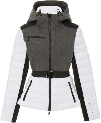 Erin Snow Kat Color Block Quilted Wool-Blend Jacket