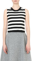Mo&Co. Striped jersey top