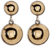 Kenneth Cole New York Two-Tone Double Dome Drop Earrings