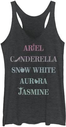Licensed Character Juniors' Disney Princesses Ariel Cinderella Snow White Jasmine Tank Top