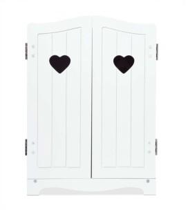 "Melissa & Doug Melissa Doug Mine to Love Wooden Play Armoire Closet for Dolls, Stuffed Animals - White 17.3""H x 12.4""W x 8.5""D Assembled"