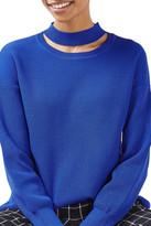 Topshop Ribbed Choker Sweater