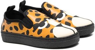 Stella McCartney Kids Leopard-Print Slip-On Sneakers
