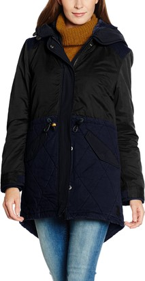 Scotch & Soda Maison Scotch Women's Winter parka with subtle color blocking detachable hood and lining. Parka Long Sleeve Jacket