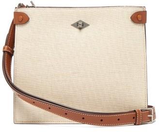 Métier Metier - Stowaway Leather-trimmed Canvas Shoulder Bag - Beige Multi