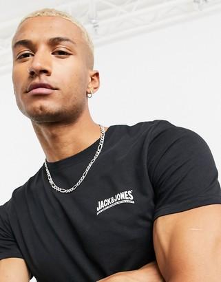 Jack and Jones Originals t-shirt with chest logo black