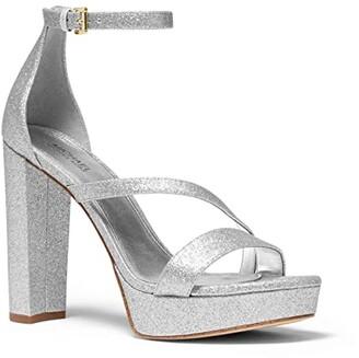 MICHAEL Michael Kors Tanner Platform (Silver) Women's Shoes