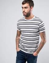 Solid T-Shirt In Multi Stripe