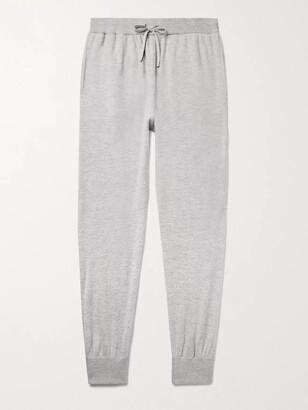 Mr P. Slim-Fit Melange Wool and Cashmere-Blend Sweatpants - Men - Gray