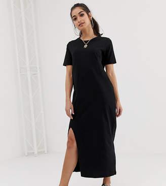 Asos DESIGN Petite ultimate t-shirt maxi dress-Black