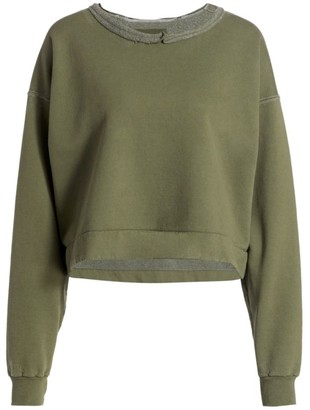 Rachel Comey Mingle Distressed Cropped Sweatshirt