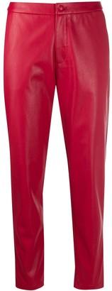 Liu Jo Faux Leather Cropped Trousers