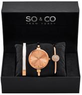 So&Co Women&s 5297 Rose Gold Watch Set