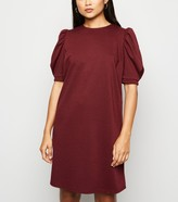 New Look Petite Puff Sleeve Tunic Dress