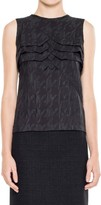 Max Studio Magnified Houndstooth Sleeveless Shell