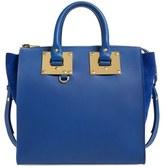 Sophie Hulme Medium Calfskin Leather & Suede Tote - Blue
