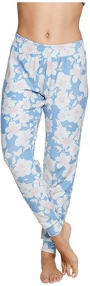 Chaser Vintage Hawaii Cozy Knit Joggers (Hawaiian Floral) Women's Casual Pants