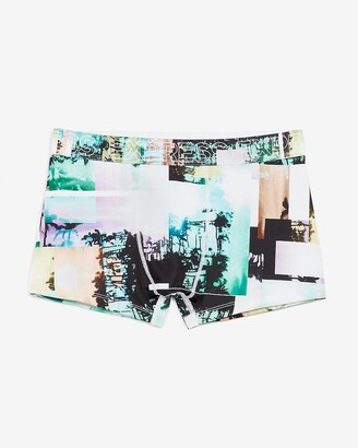 Express Palm Tree Photoreal Performance Sport Trunks