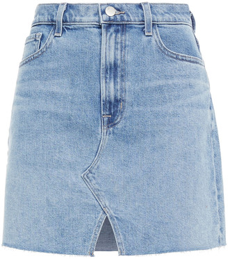 J Brand Faded Denim Mini Skirt