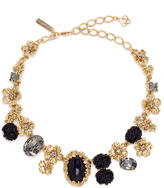 Oscar de la Renta Jet Resin Bouquet Necklace