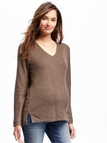 Old Navy Maternity Relaxed V-Neck Ribbed Sweater