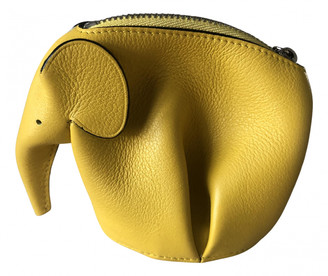 Loewe Animals Yellow Leather Purses, wallets & cases