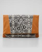 Be & D Nixie Clutch Bag, Black/White
