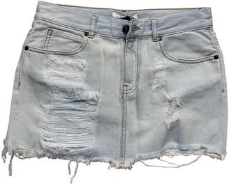 Gaelle Bonheur Blue Denim - Jeans Skirt for Women