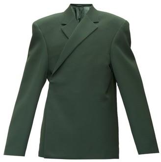 Balenciaga Exaggerated-shoulder Twill Jacket - Mens - Green