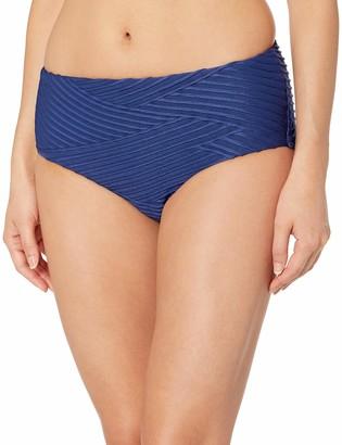 Seafolly Women's Mid Rise Full Coverage Bikini Bottom Swimsuit