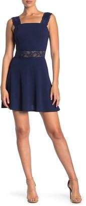 Love Squared Lace Strap Fit & Flare Mini Dress
