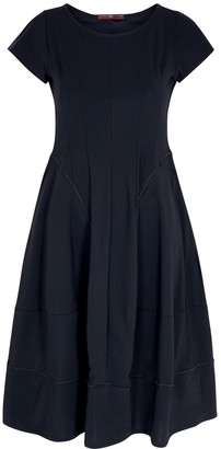 High Subline Navy Stretch-jersey Skirt