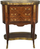 One Kings Lane Vintage Italian Marquetry Louis XV Side Table