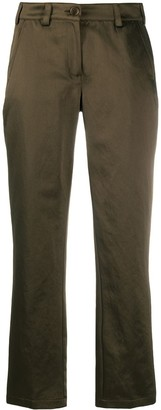 Aspesi Satin Slim-Fit Trousers