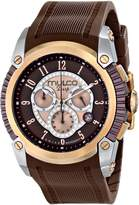 Mulco Women's Deep Chronograph Rose Gold Tone & Brown MOP Dial Brown Silicone