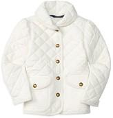 Ralph Lauren Girls' Diamond Quilted Barn Jacket - Sizes 2-6X