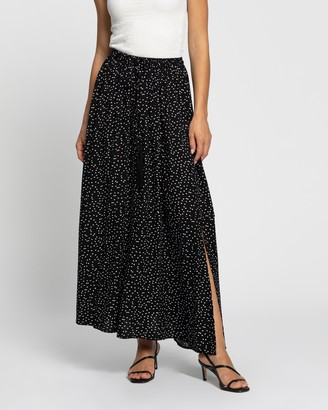 Atmos & Here Atmos&Here - Women's Black Maxi skirts - Domanique Midi Skirt - Size 6 at The Iconic
