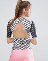 Illustrated People Open Back Top
