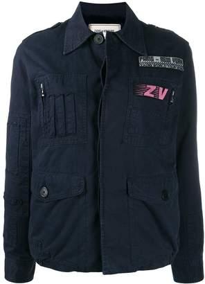 Zadig & Voltaire Zadig&Voltaire patch-embellished flight jacket