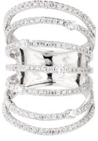 Saachi Silver Sprung Crystal Ring