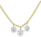 Aero Diamonds Trio Round Diamond Fringe Necklace