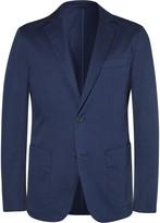 Hugo Boss - Navy Narvik Slim-fit Stretch-cotton Blazer