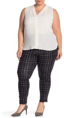 Hue Summer Plaid Print Skimmer Pants (Plus Size)
